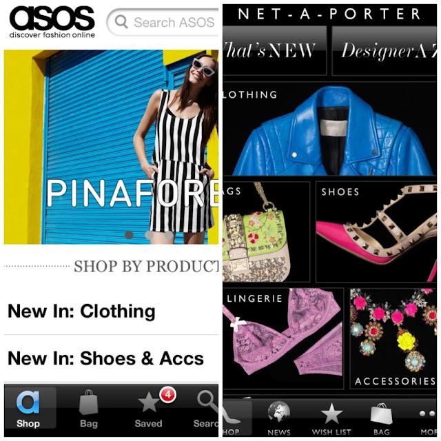 ASOS App and Net A Porter App