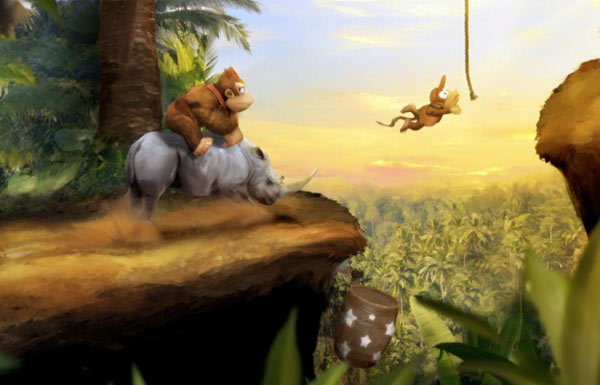Donkey Kong Country Painting Art