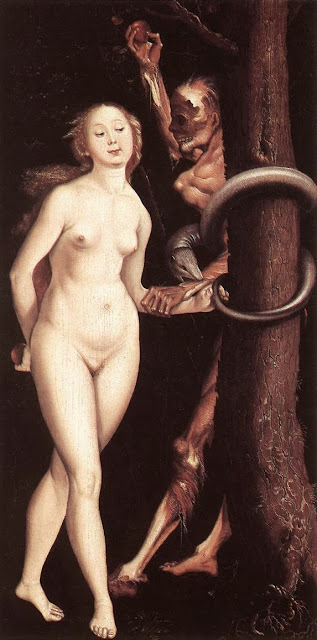 Hans Baldung - Eve, the Serpent, and Death