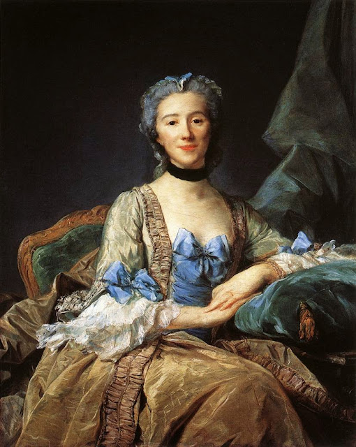 Jean-Baptiste Perronneau - Madame de Sorquainville