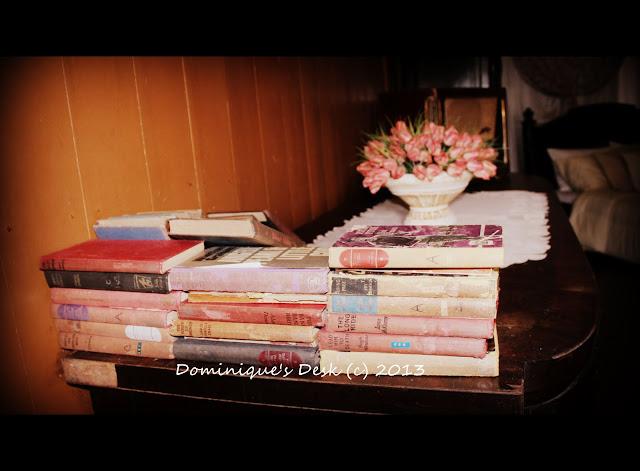 Books on a ledge