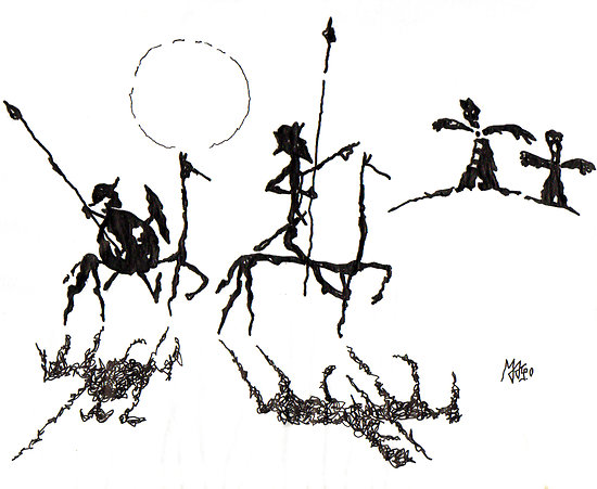Creación de Carlos Nine, MAGO: Don Quijote de la Mancha y Sancho Panza