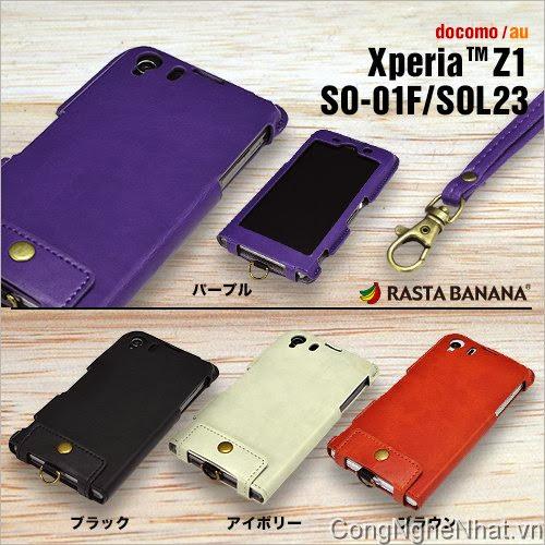 Bao da xịn Sony Xperia Z1 (SO-01F) Rasta Banana
