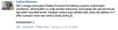 {focus_keyword} Atasi Masalah Rambut - Dengan Rangkaian Prosante Shaklee testi 2520prosante