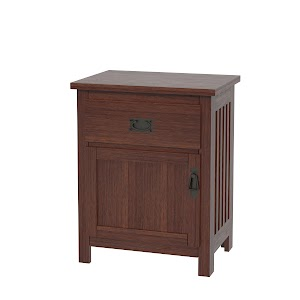 mission nightstand with doors