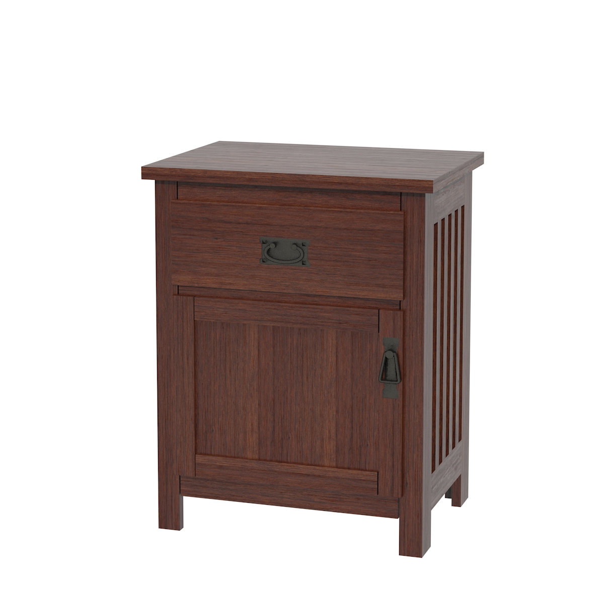 Mission Nightstand with Door Chocolate Cherry ...  sc 1 st  Erik Organic & Mission Nightstand With Doors | Solid Wood Nightstand in the Mission ...
