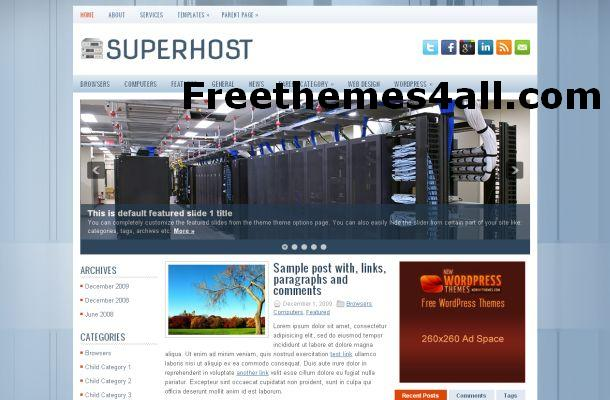 Free WordPress Web Hosting Blog Theme