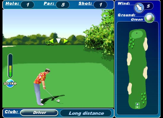 Jogo de golf online