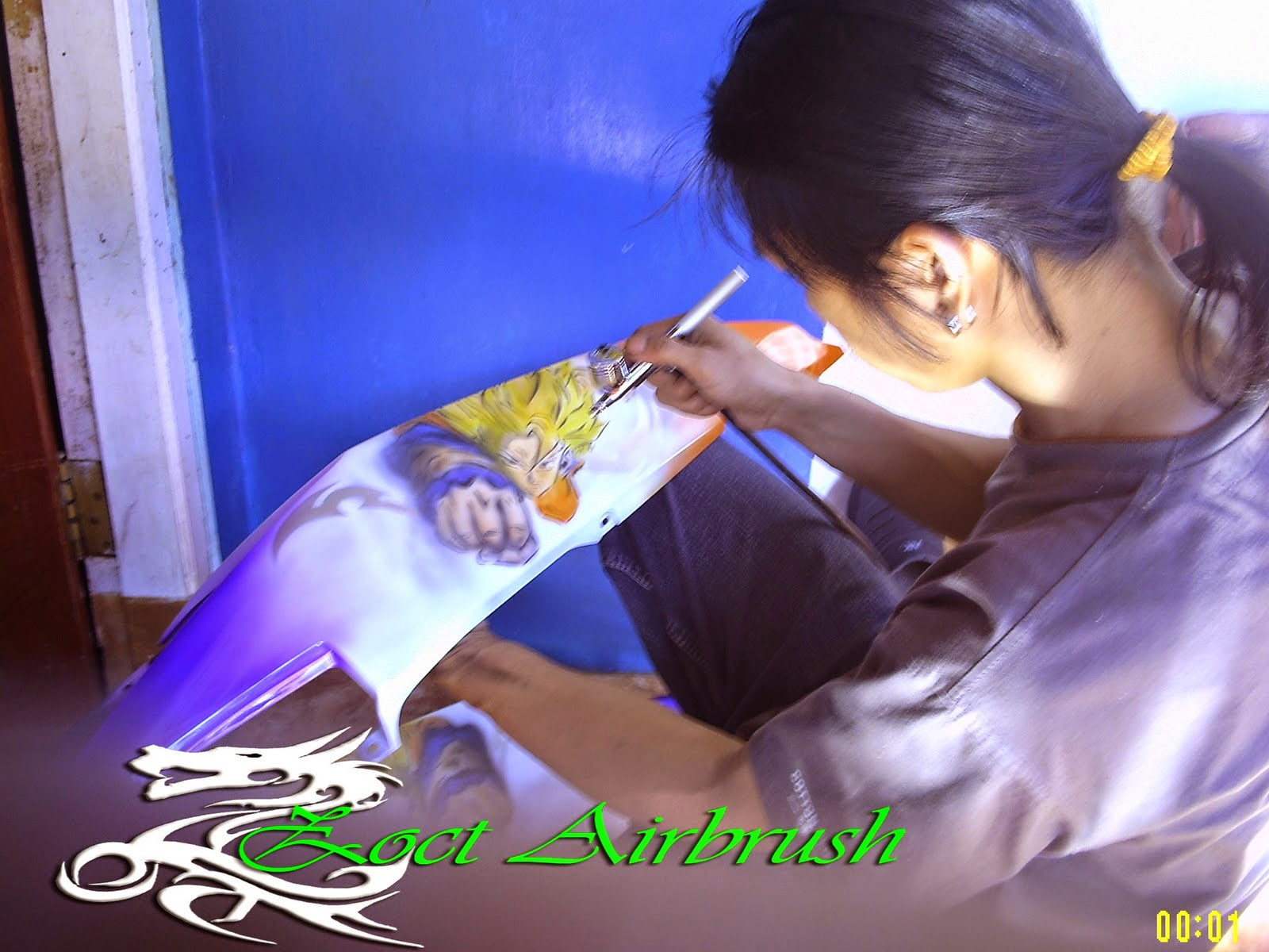 Modifikasi Jupiter Mx Full Airbrush