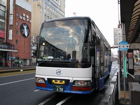 中国JRバス「鹿児島ドリーム広島号」 641-4909 鹿児島天文館到着