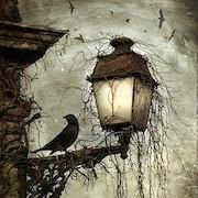 Ворона у фонаря