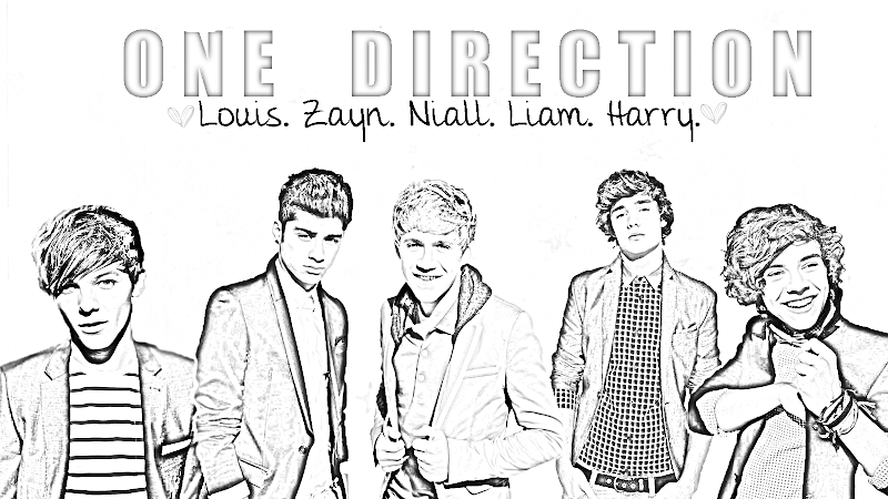 One Direction coloring pages,