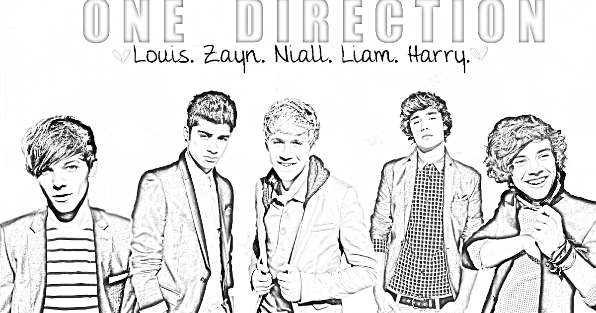 One Direction coloring pages, printable pages | Coloring Pages