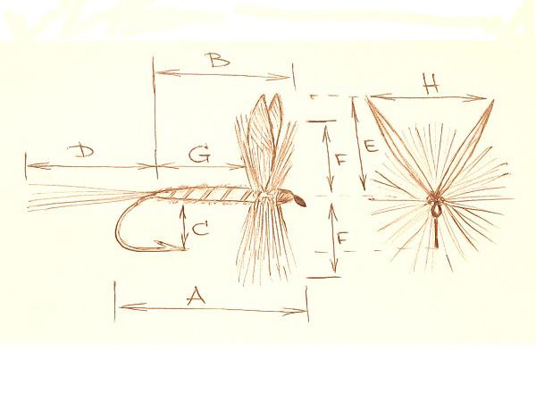 Класическа суха муха - пропорции
