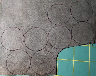 circles drawn on leather