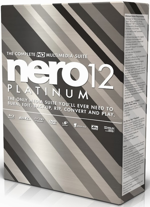Free Download Latest Version of  Nero 12 Platinum HD v.12.5.01400 Retail + ContentPack CD DVD Tools Software at Alldownloads4u.Com