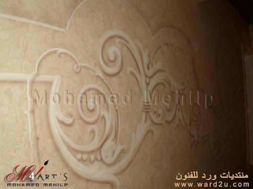 الطبيعة و الزخارف الجدارية من أعمال محمد محيلب