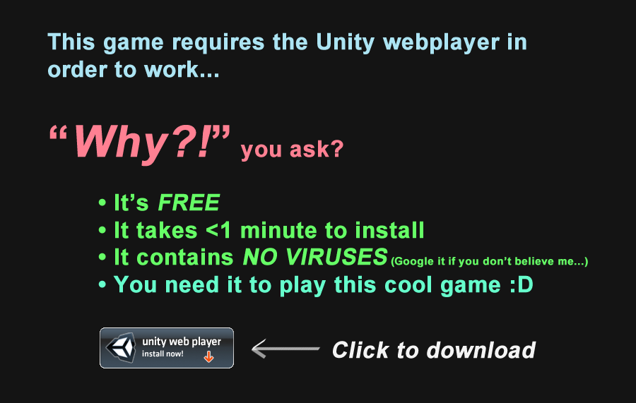 Click here to install the webplayer!