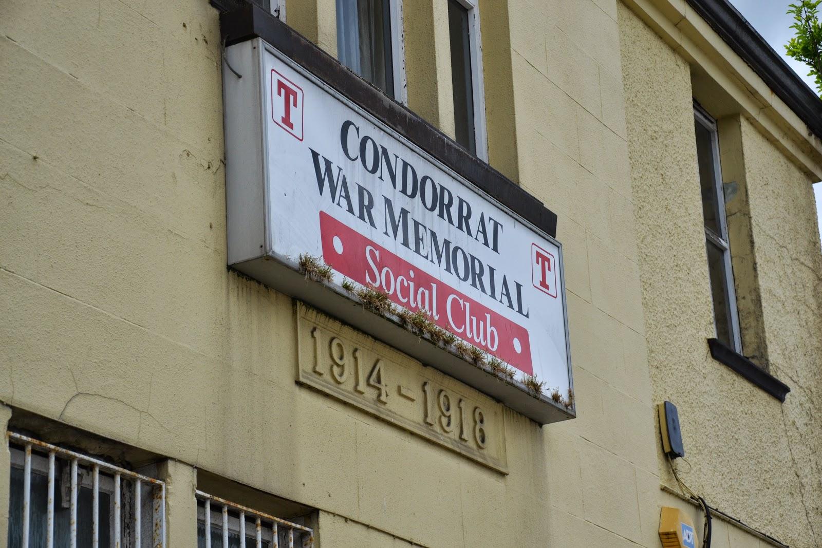 01-06-2013 - By Scott Campbell (+44) 0774 296 870 - Condorrat Gala Day, 2013, at St. Helen's Primary School; Picture shows Condorrat War Memorial Social Club, on Condorrat Main Road.