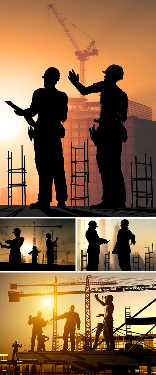 Stock Photo: Group of workers 5