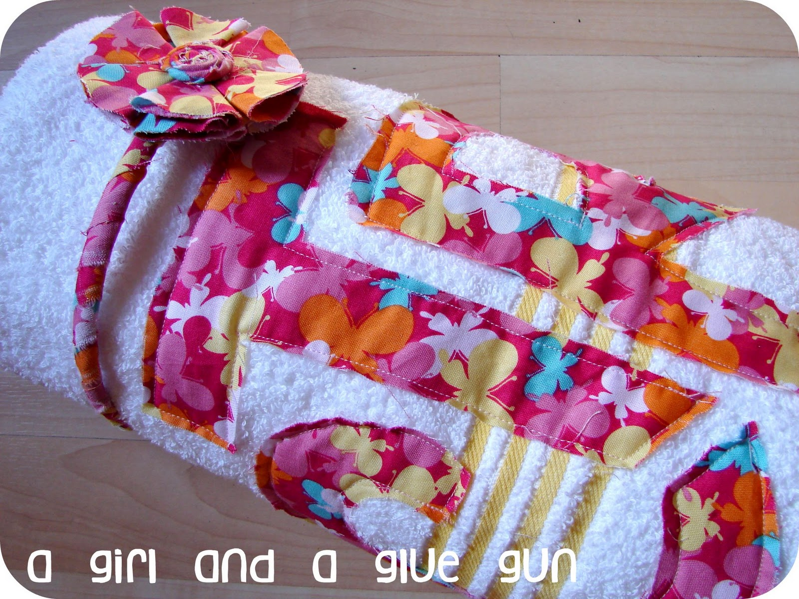 ctr towel a and a glue gun