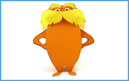 The Lorax Papercraft