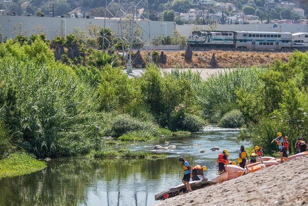 L.A. River, kayaking