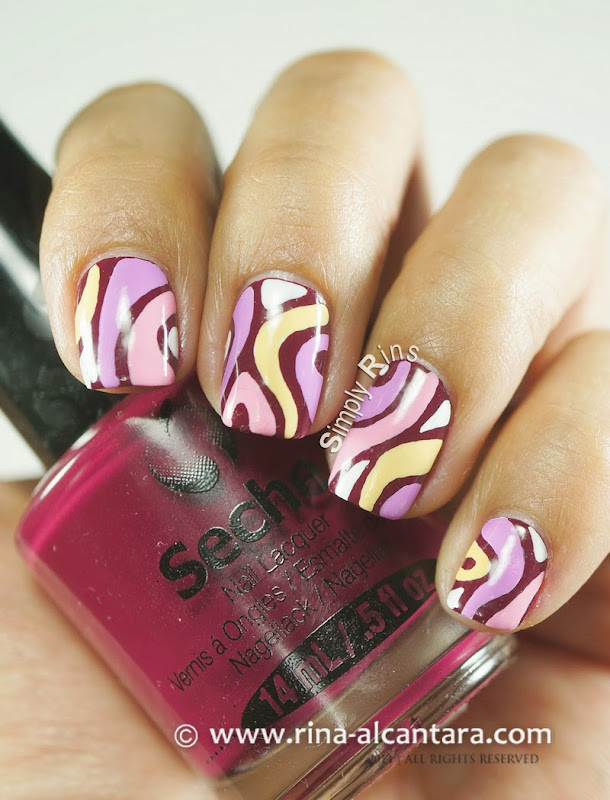Disaligned Nail Art Design on Seche Vite Irresistable