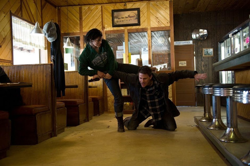 Gina Carano and Channing Tatum in Haywire