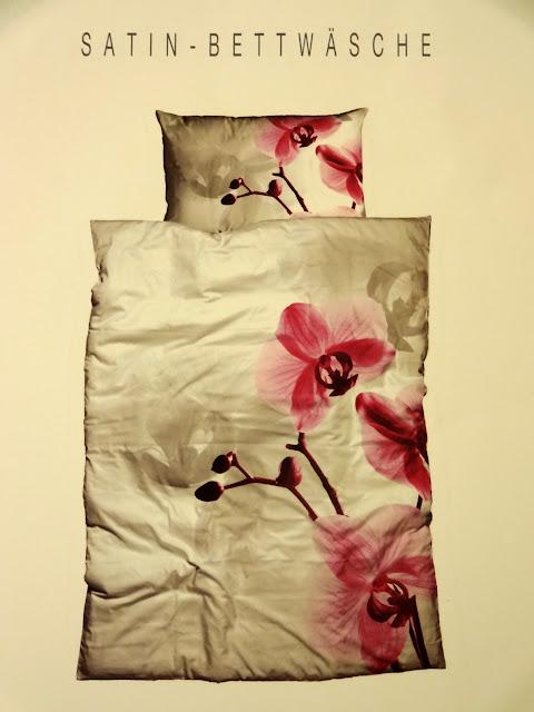 edle satin bettw sche mit ochideen orchidee blumen 135 x 200 cm neu ebay. Black Bedroom Furniture Sets. Home Design Ideas