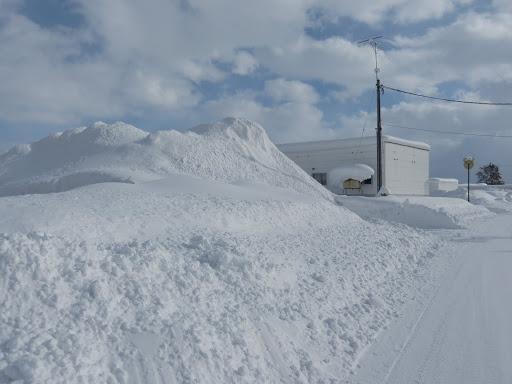 かなりの積雪量です