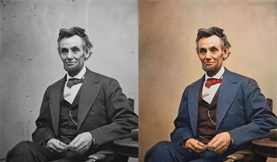 Абрахам Линкълн - Най-известните исторически черно-бели фотографии в цвят