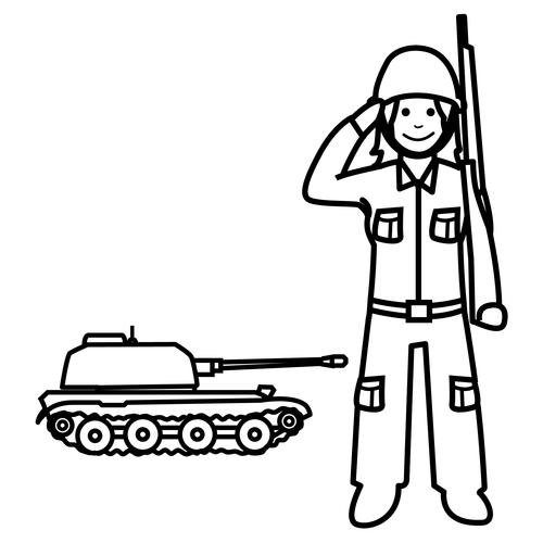Soldat-Tageskostüm