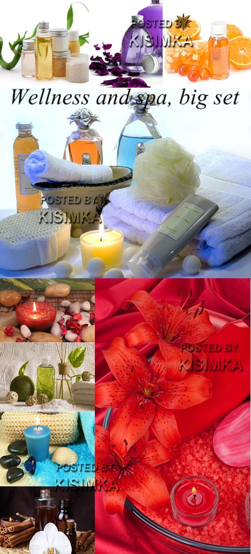 Stock Photo: Wellness and spa, big set