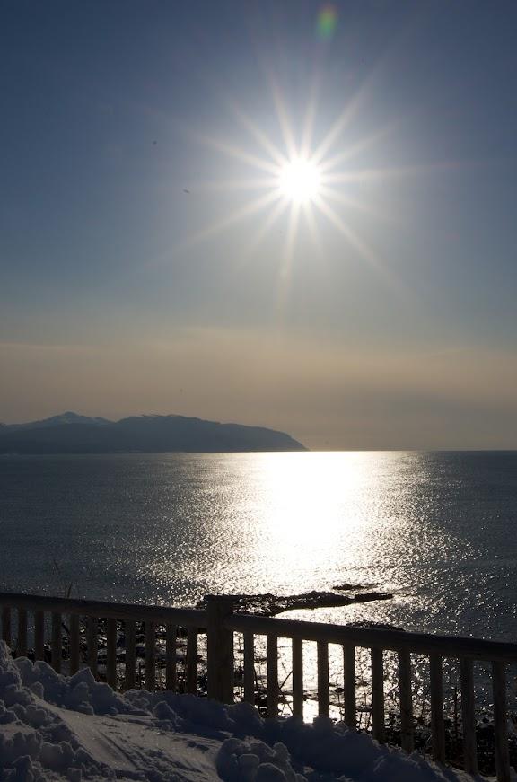 留萌で見る日本海