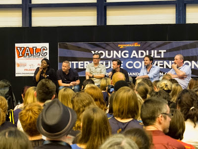 Doctor Who panel with Malorie Blackman, Charlie Higson, Andrew Lane, Patrick Ness, Marcus Sedgwick and Steve Cole at London YA Lit Con (YALC)