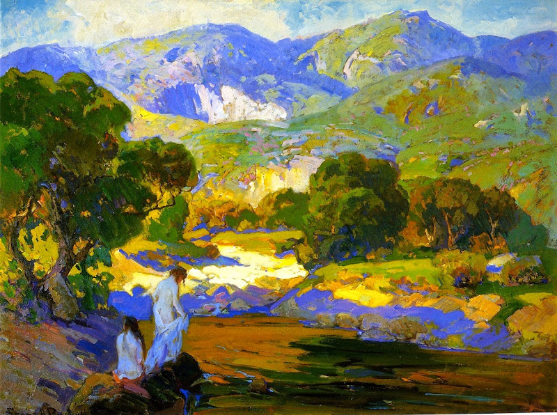 Franz Bischoff - Bathers in a Mountain Stream