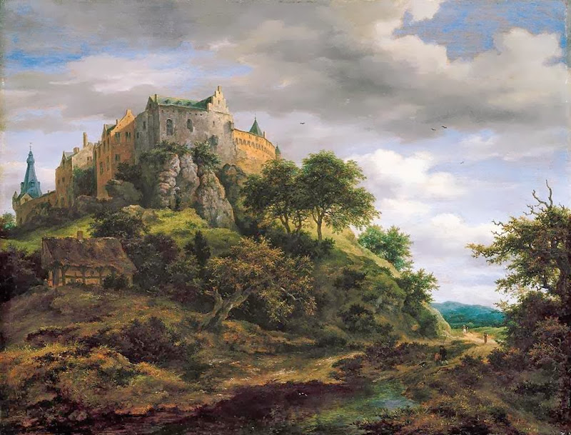 Jacob van Ruisdael - View of Bentheim Castle from the North-West