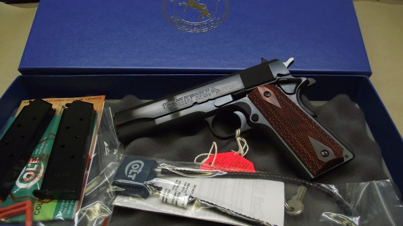 Colt Series 70 GOVT, 45ACP, Blue