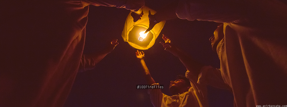 #100FireFlies: Friends, Sky lanterns & Diwali.