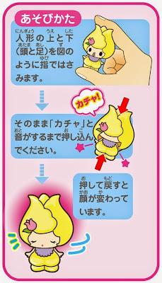 Hướng dẫn cách thay đổi nét mặt búp bê trên bao bì sản phẩm Koeda-chan KFG-04