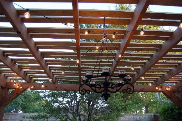 Okla-HOME-a: Restoring our pergola - Outdoor Pergola Lights