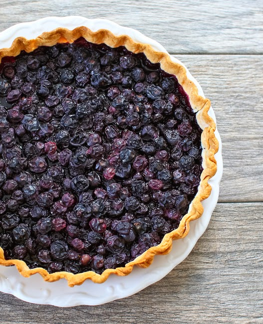 overhead photo of a Blueberry Tart