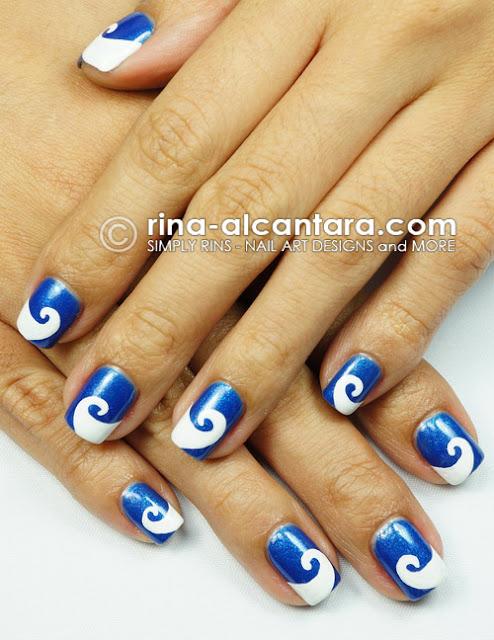 Wave-y Nail Art Design