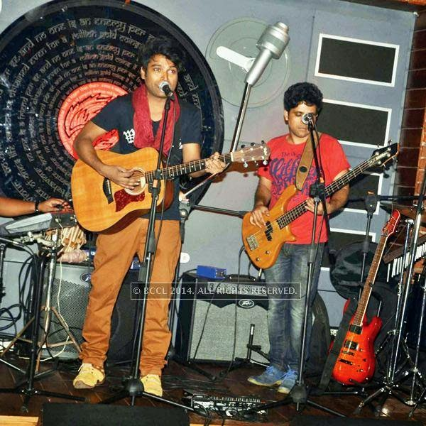 The band Guruz performs during a Sufi night, held at Sutra Gastropub, in Gurgaon.