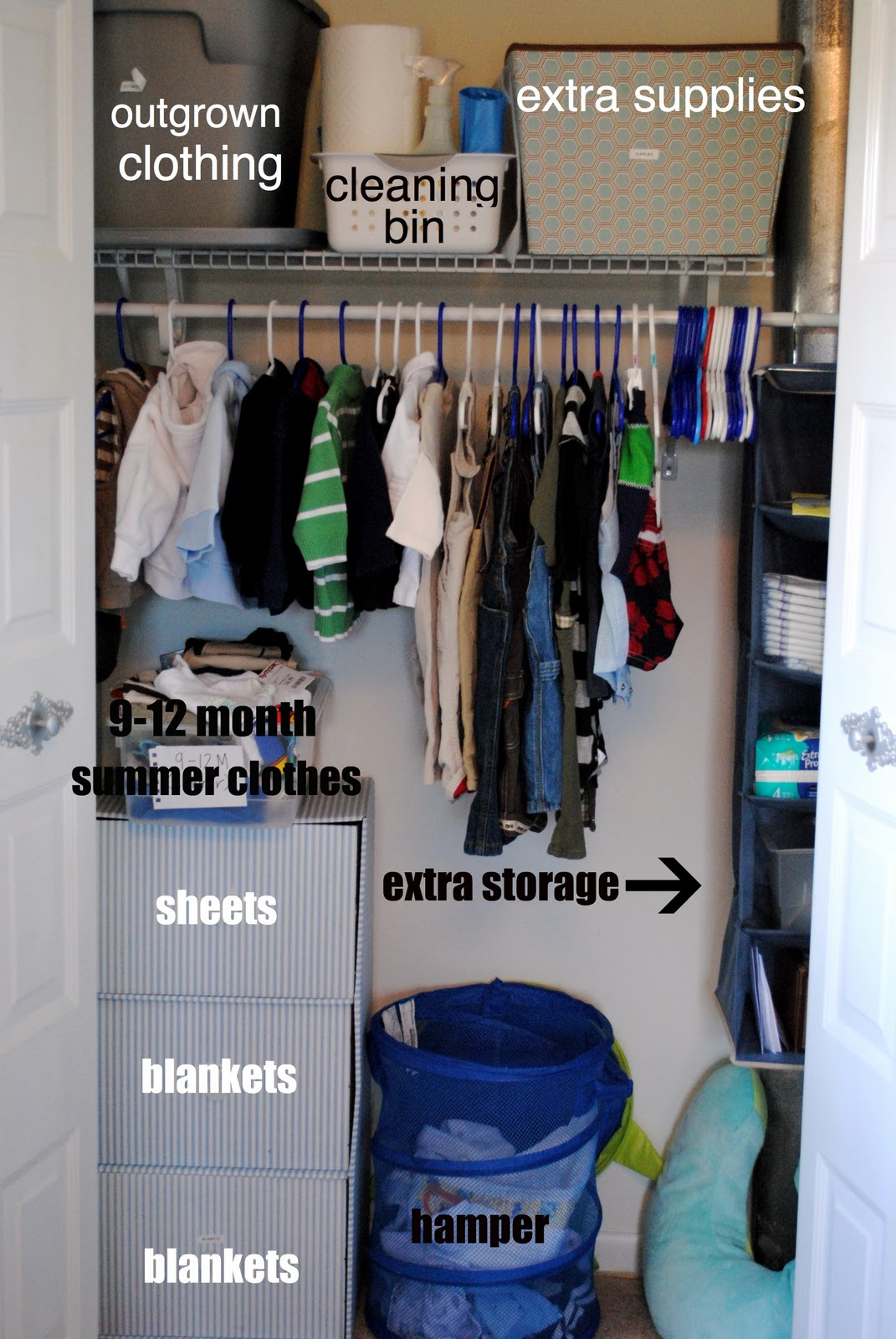 Tips For Organizing A Baby Or Childu0027s Closet
