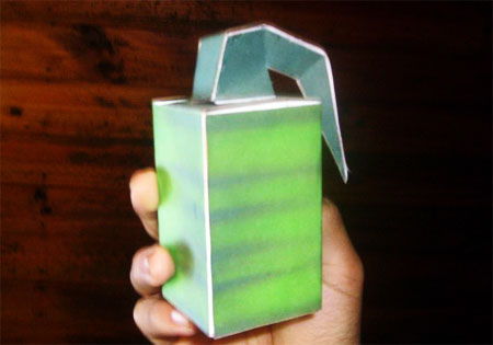 Concussion Grenade Paper Toy