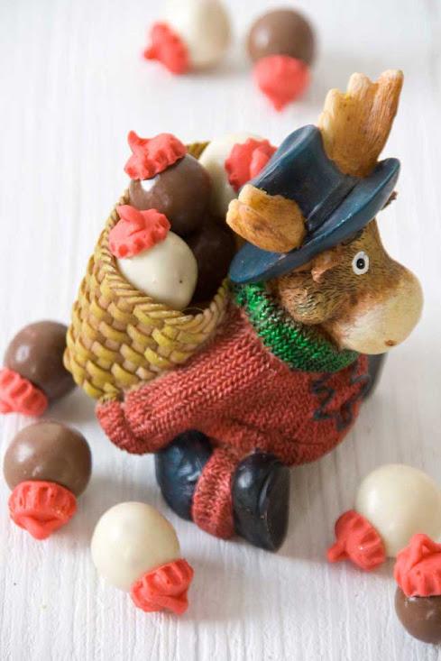 bolitas de navidad de chocolate