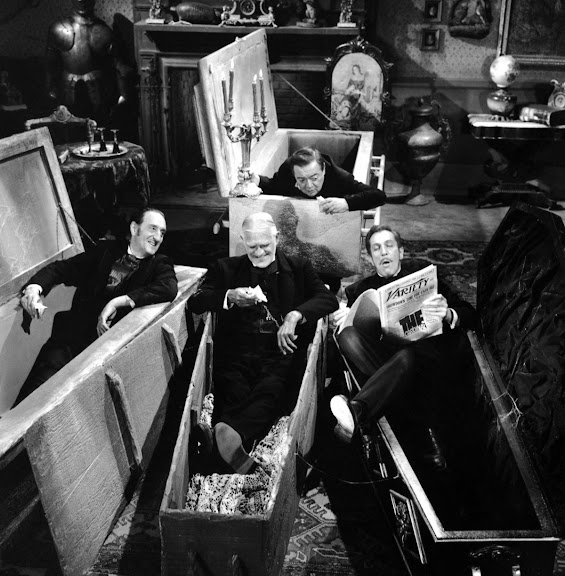 Peter Lorre, Basil Rathbone, Boris Karloff and that young upstart, newcomer Vincent Price.