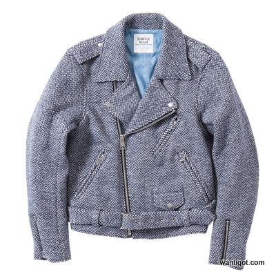 Herringbone Biker Jacket by Mr. Gentleman